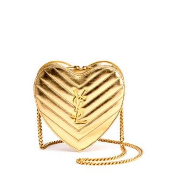 53bb9c2ef0 YSL Metallic Love heart chain bag. M 5a5b8b04a6e3ea020ff1cb49
